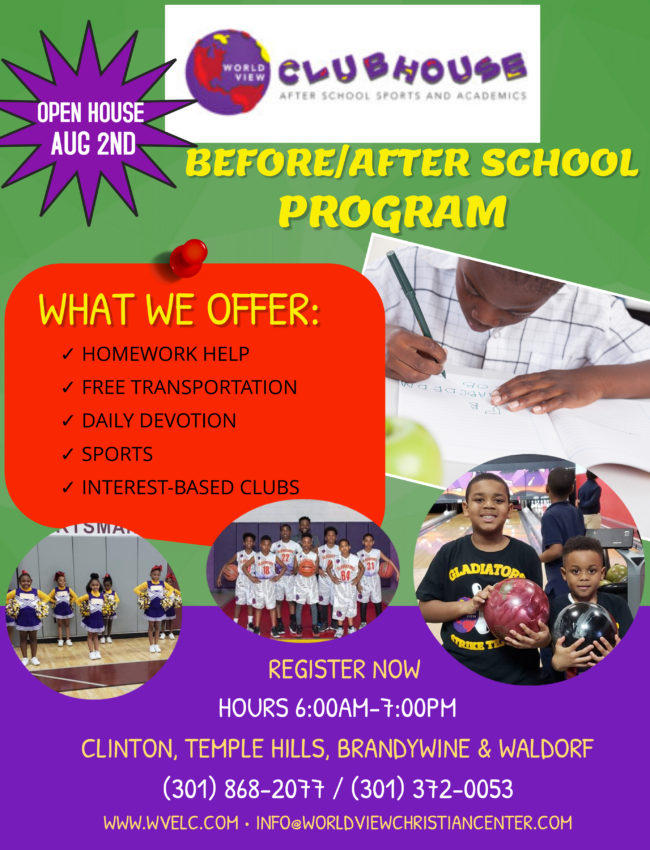 2019-2020 After Care Flyer