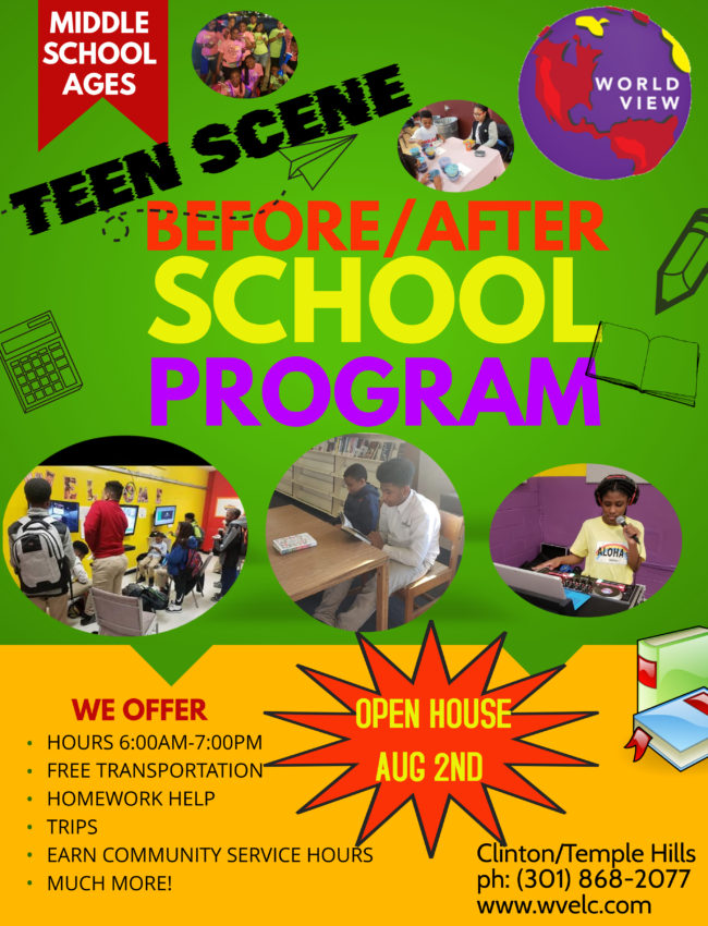 2019-2020 After Care Teen Flyer