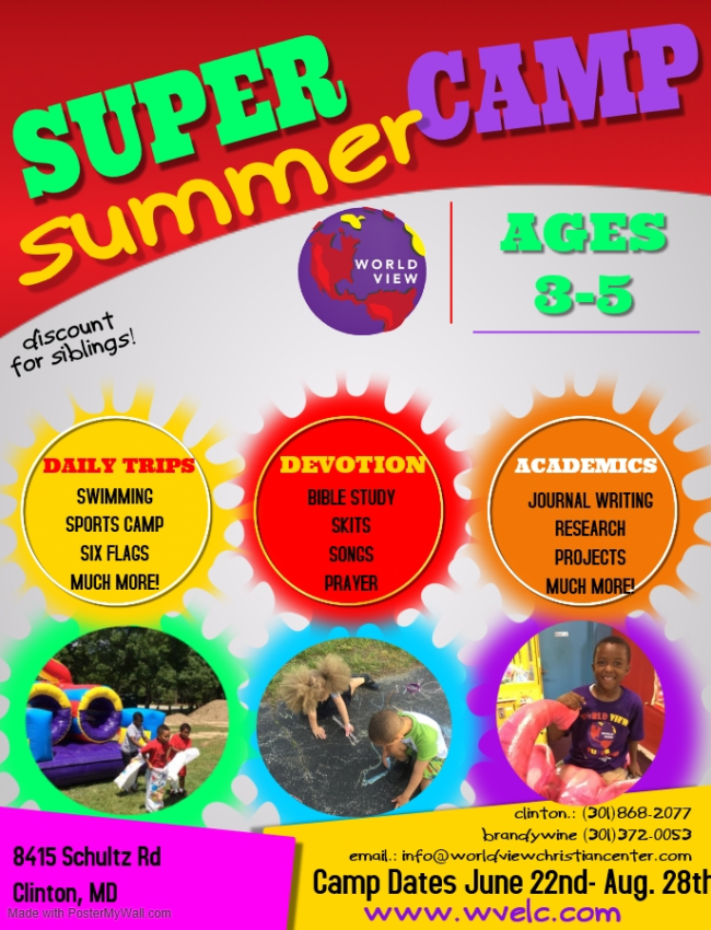 3s to young 5s summer camp flyer 2020